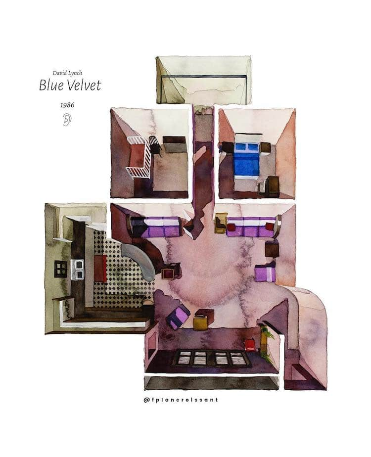 Illustrated Floor Plan of Blue Velvet by Floor Plan Croissant