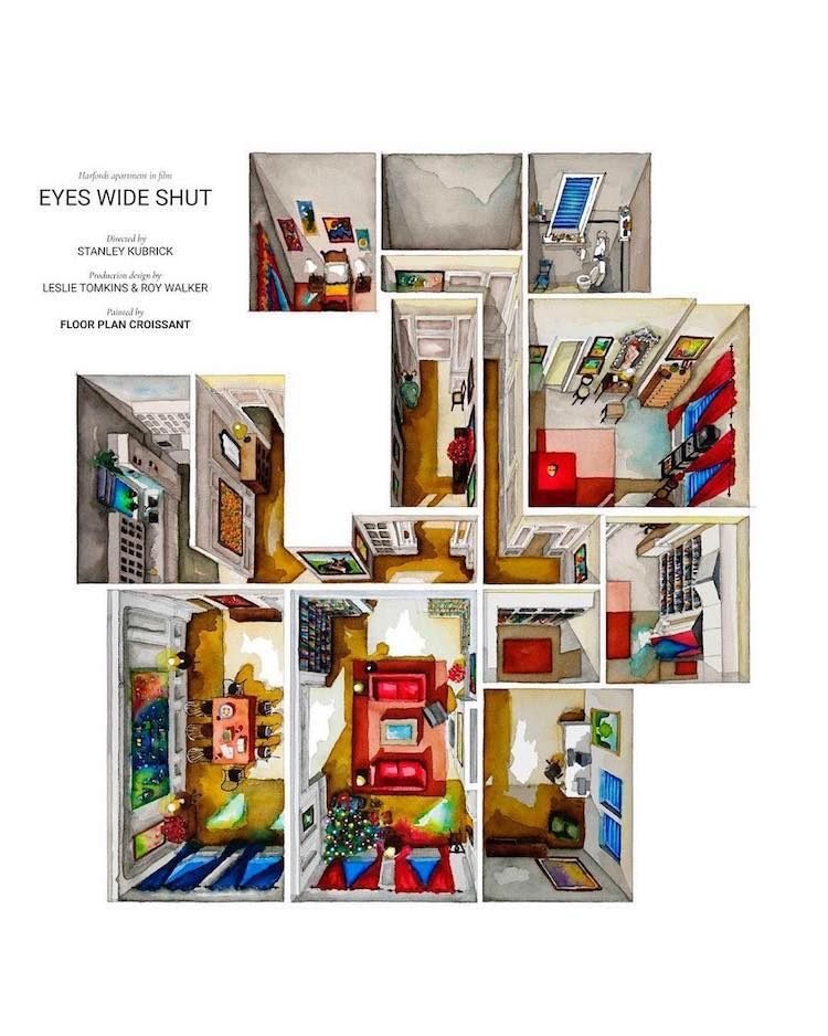 Illustrated Floor Plan of Eyes Wide Shut by Floor Plan Croissant