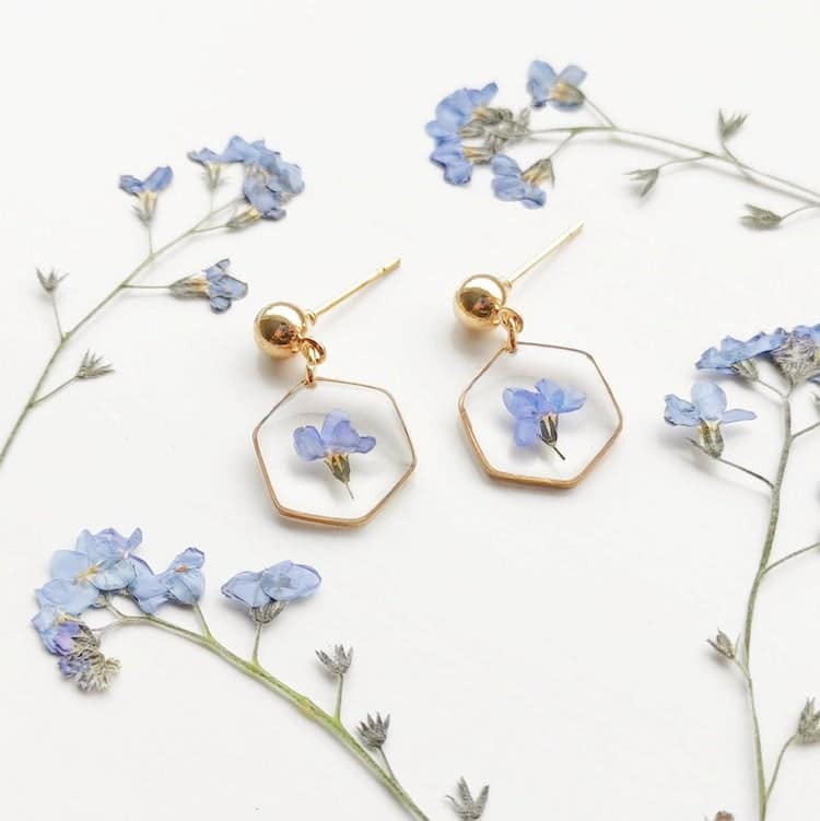 ForgetmeNot Flower Earrings