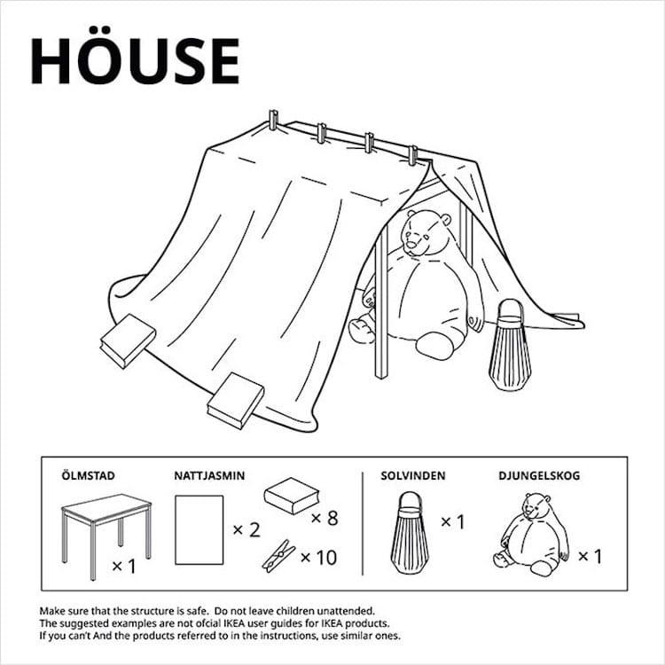Fuertes con muebles de IKEA