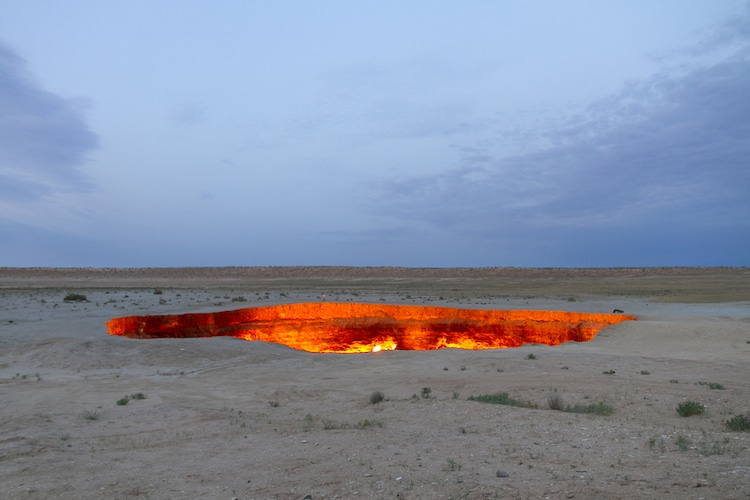 Door of Hell Crater in Turkmenistan
