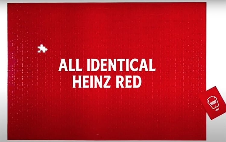 Heinz 570 Piece Ketchup Red Jigsaw Puzzle