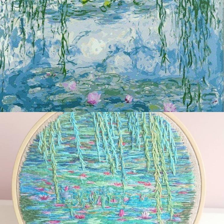 bordado de paisajes por Ludmila Perevalova