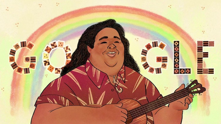 Israel Kamakawiwoʻole's Birthday Google Doodle