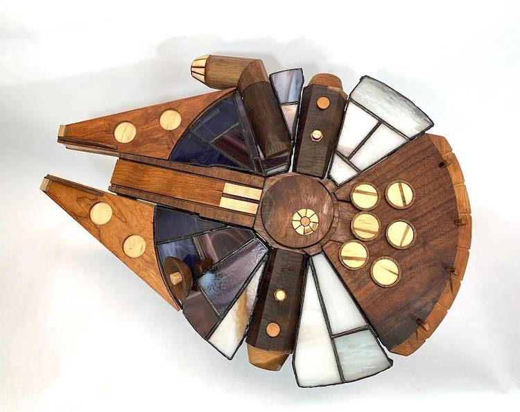 Wood and Stained Glass Art