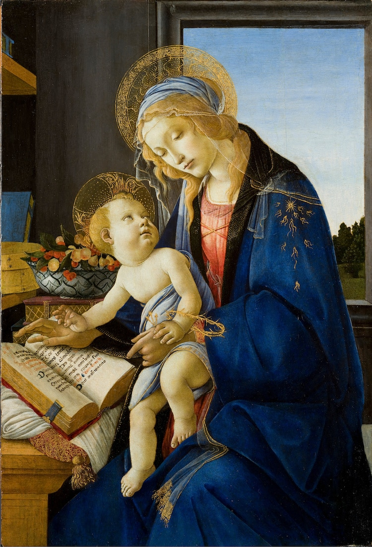 Madonna and Child Painted by Sandro Botticelli