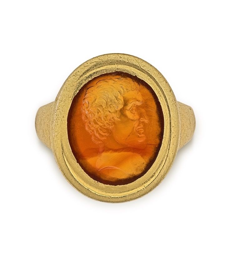 Gemstone with Portrait of Mark Antony from the Marlborough Collection