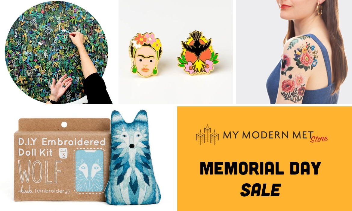Save 15% on Creative Items at My Modern Met Store's Memorial Day Sale