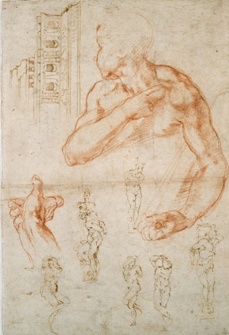 "Studies for Michelangelo's ""Slaves"""