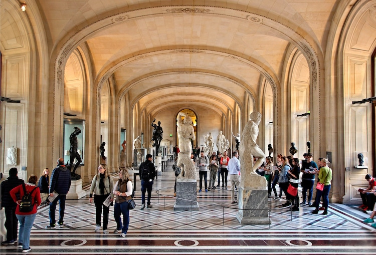 "Michelangelo's ""Slaves"" in the Louvre"