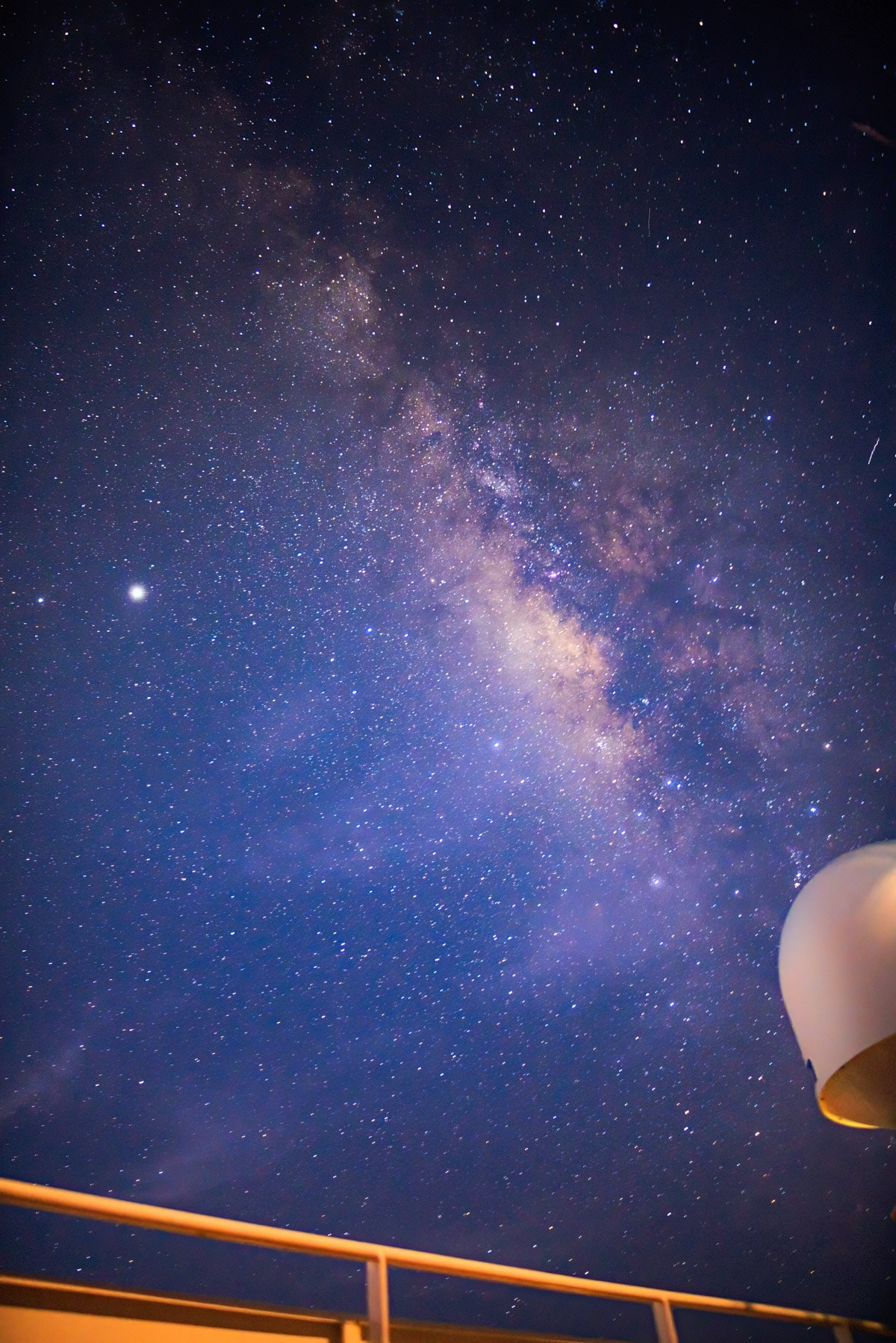 Milky Way from a Cargo Ship by Santiago Olay