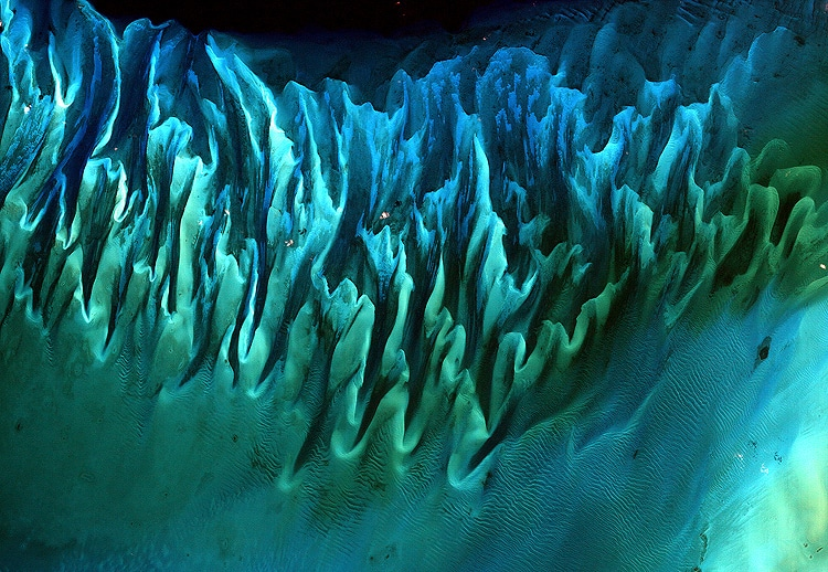 Abstract Photo of Ocean Sand, Bahamas