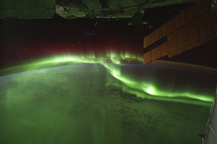 Aurora borealis from the ISS