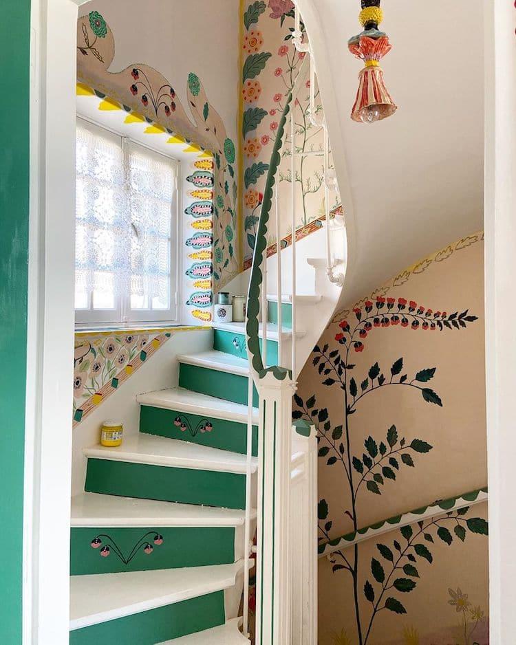 murales en casa por Nathalie Lete