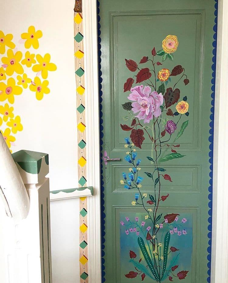 murales de flores por Nathalie Lete