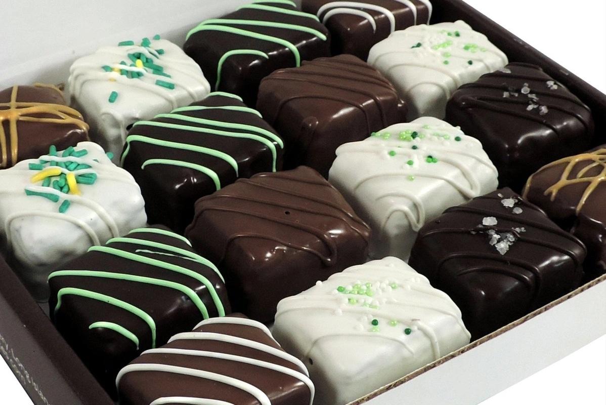 Box of Handmade Choclate-Dipped Brownies