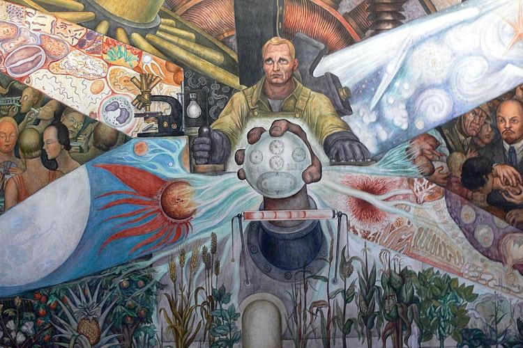 mural de diego rivera en bellas artes