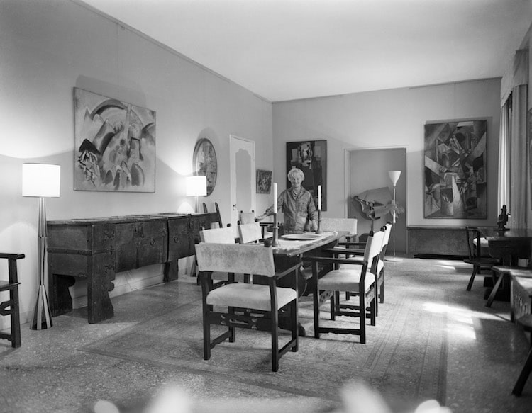 Peggy Guggenheim in her Home