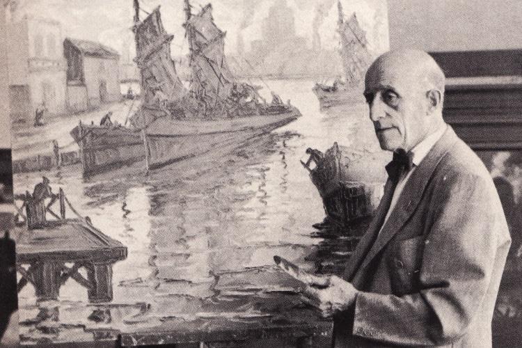 pintores argentinos Benito Quinquela Martín
