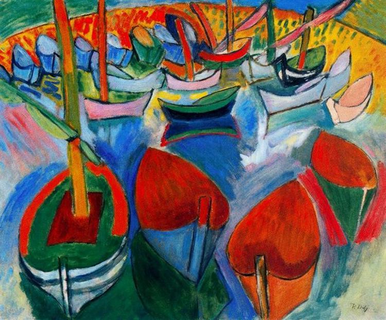 Raoul Dufy, Boats at Martigues