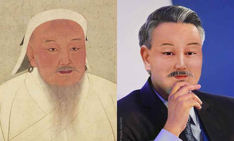 Genghis Khan Reimagined as Modern-Day Figure by Royalty Now