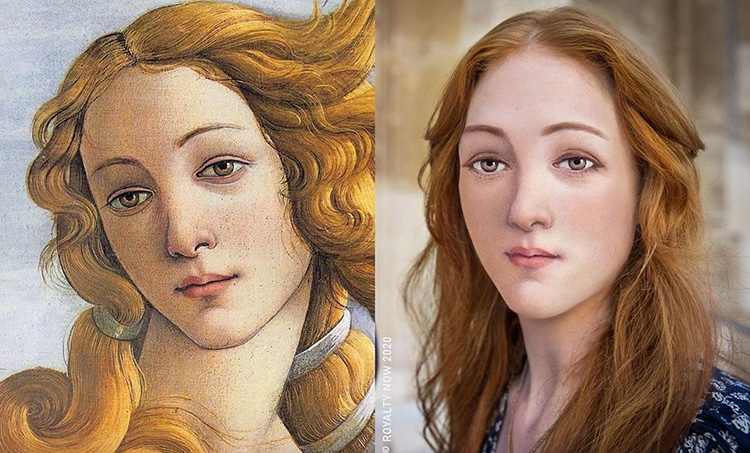 Botticelli's Venus Reimagined as Modern-Day Figure by Royalty Now