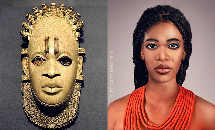 Mother Idia Reimagined as Modern-Day Figure by Royalty Now