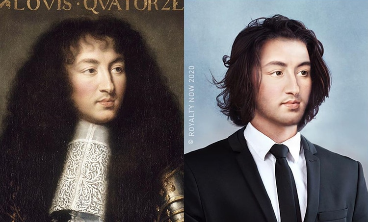 Louis XIV Reimagined as Modern-Day Figure by Royalty Now