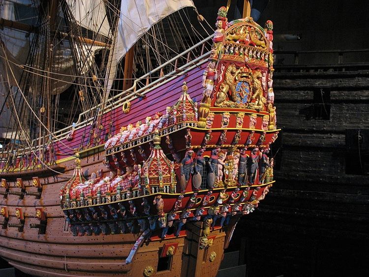 1:10 Maquette du navire de guerre suédois Vasa au musée Vasa