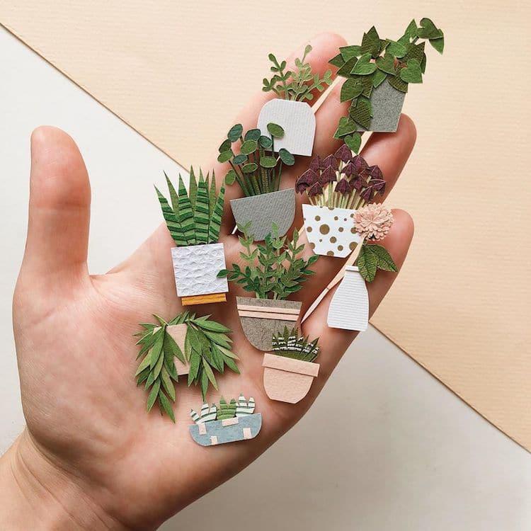 Handcut Paper Plants by Tania Lissova