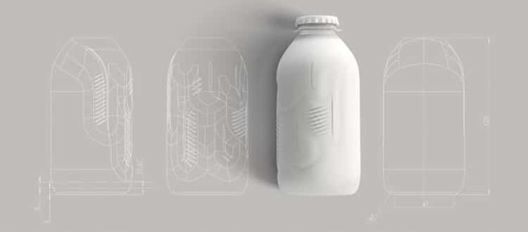 Diseño de prototipo de la botella de papel reciclable de The Paper Bottle Project