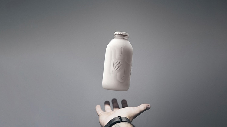 Prototipo de botella de papel biodegradable