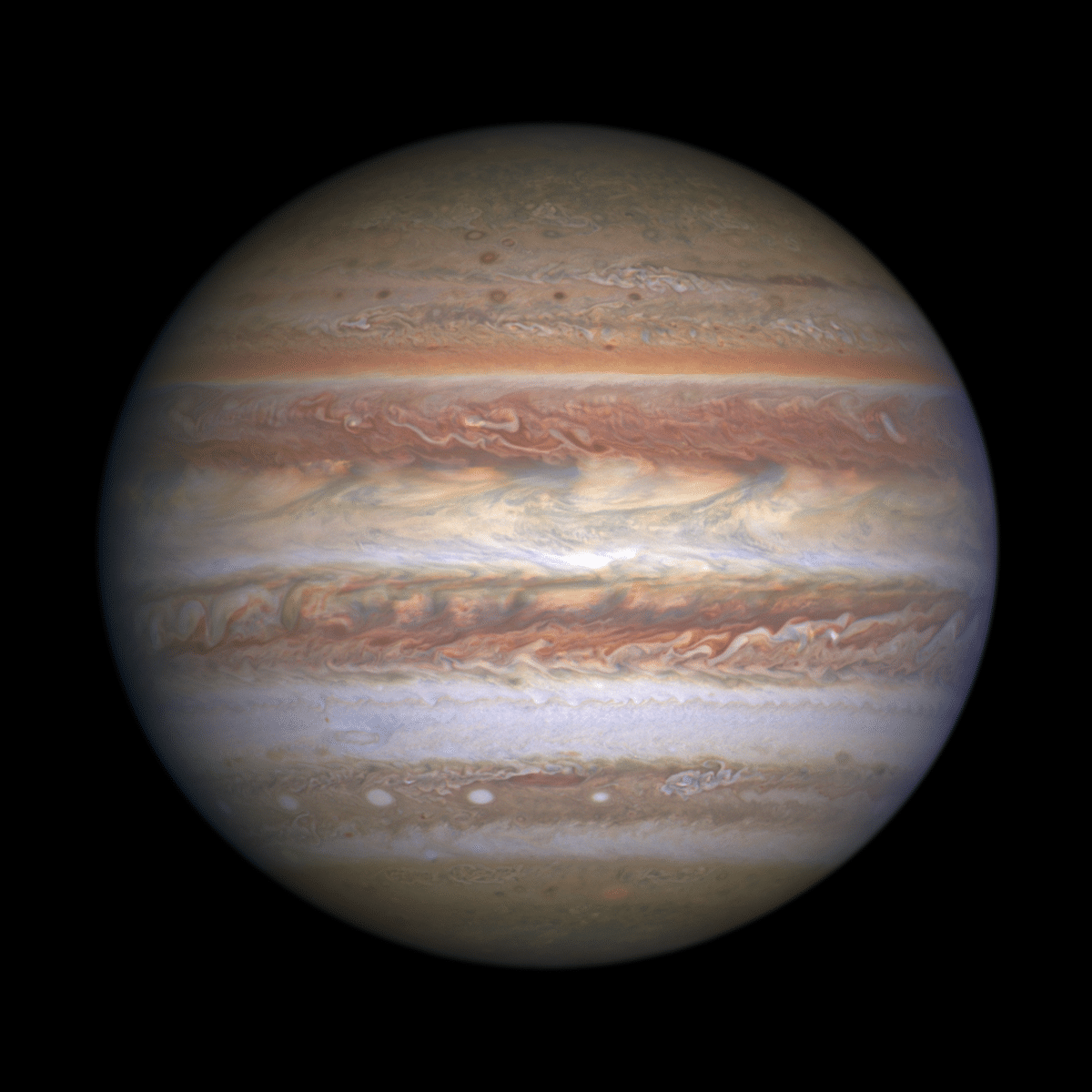 Jupiter as Seen from the Hubble Telescope