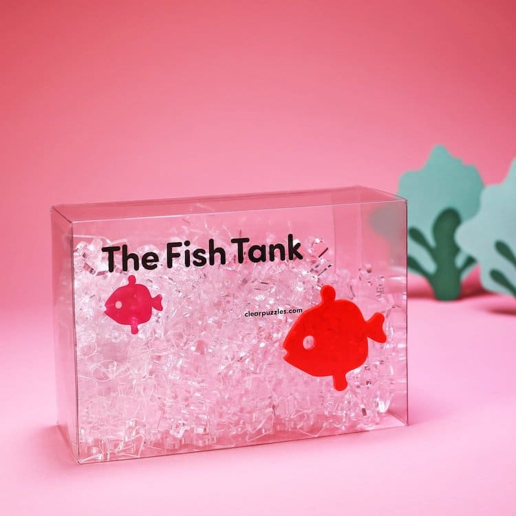 Clear Jigsaw Puzzle Inspired by a Fish Tank
