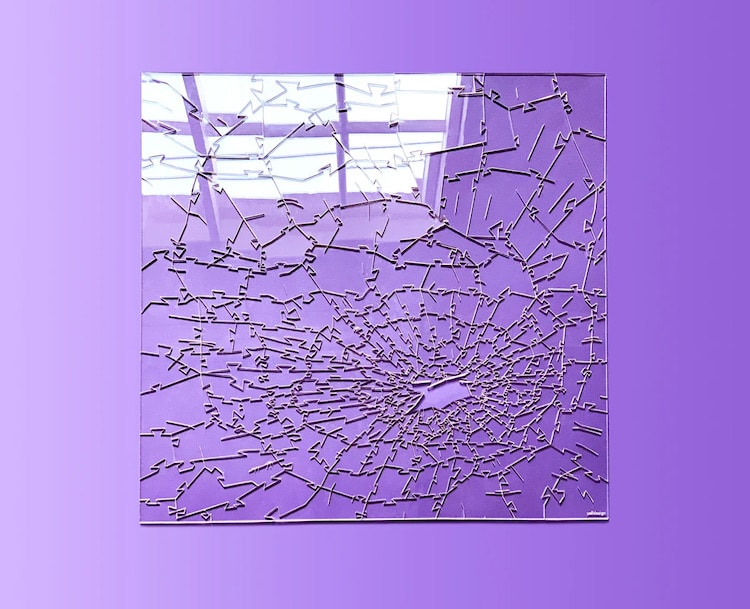Clear Jigsaw Puzzle Inspired by Broken Glass