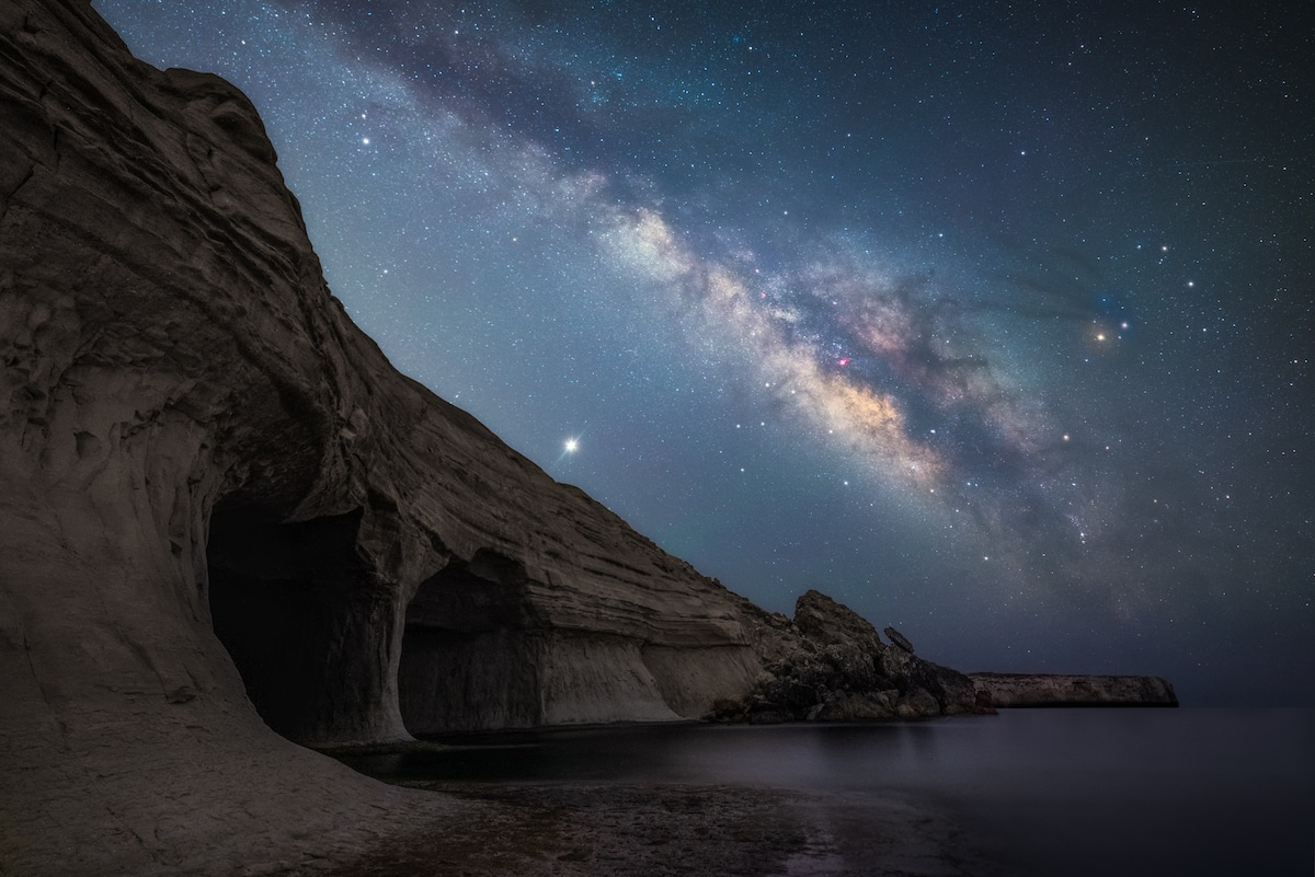 Milky Way Over Ta Marija Cave in Malta