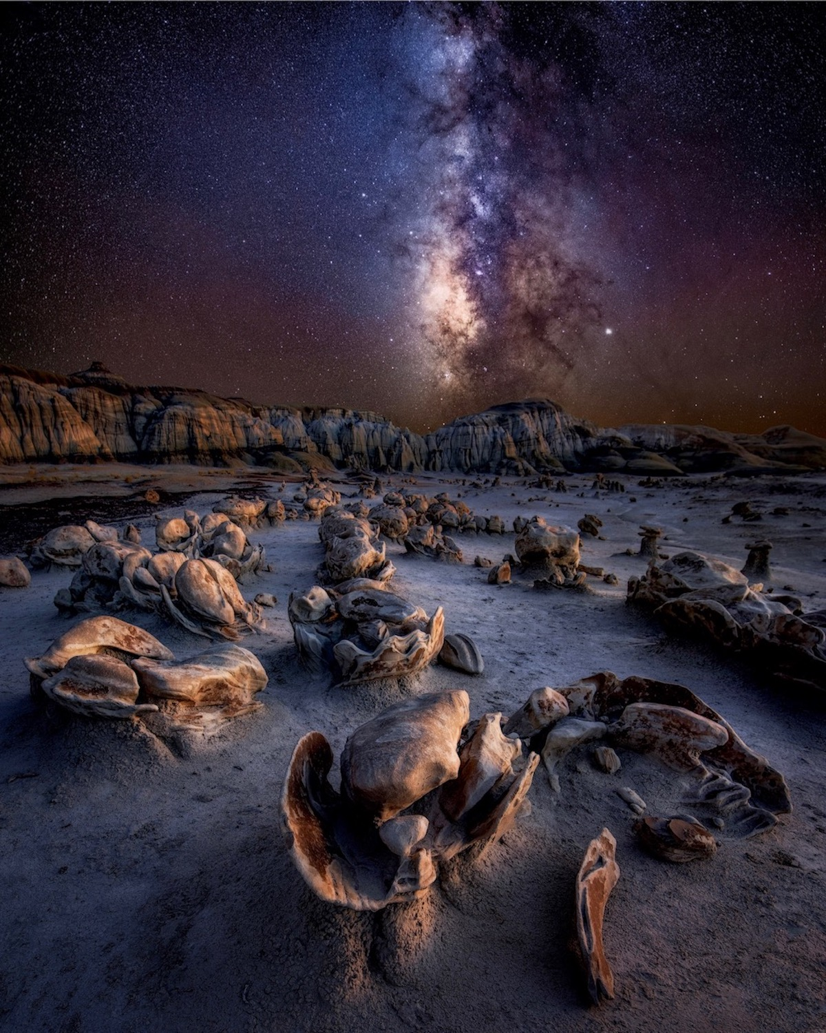 Milky Way Over the Badlands in New Mexico