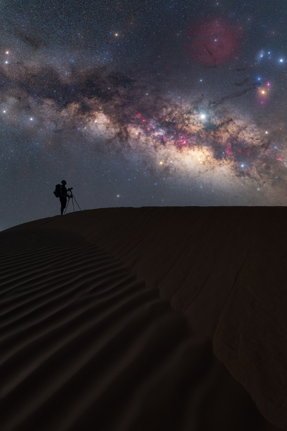 Milky Way in the Sahara Desert