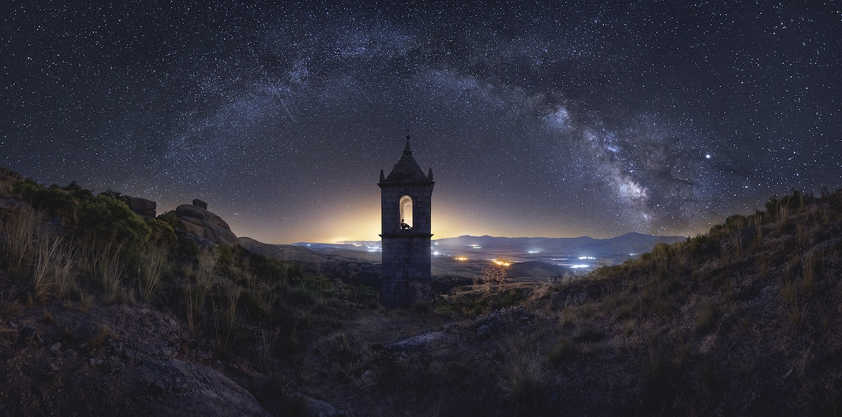 Milky Way Over an Old Monastery in Spain