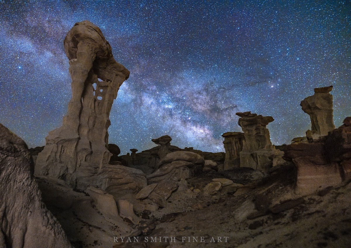 Milky Way Over a Rocky Landscape in the Southwest USA
