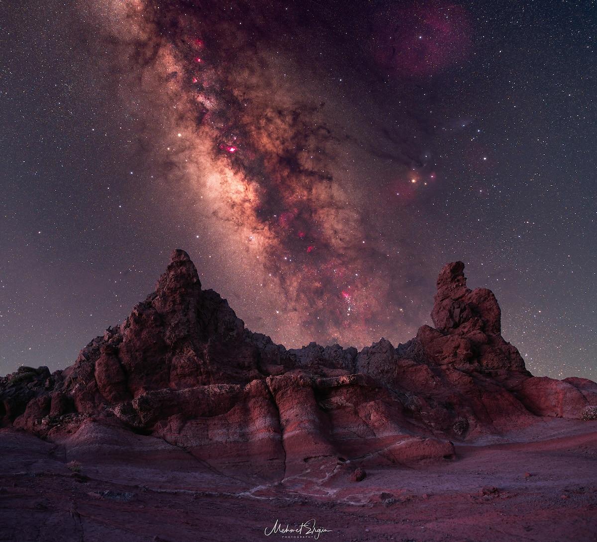Milky Way in Parque Nacional del Teide in Tenerife