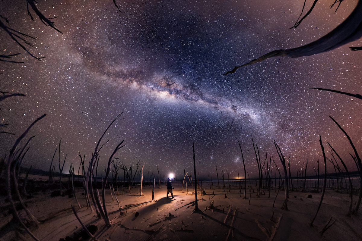 Milky Way Over Dumbleyung Lake in Australia