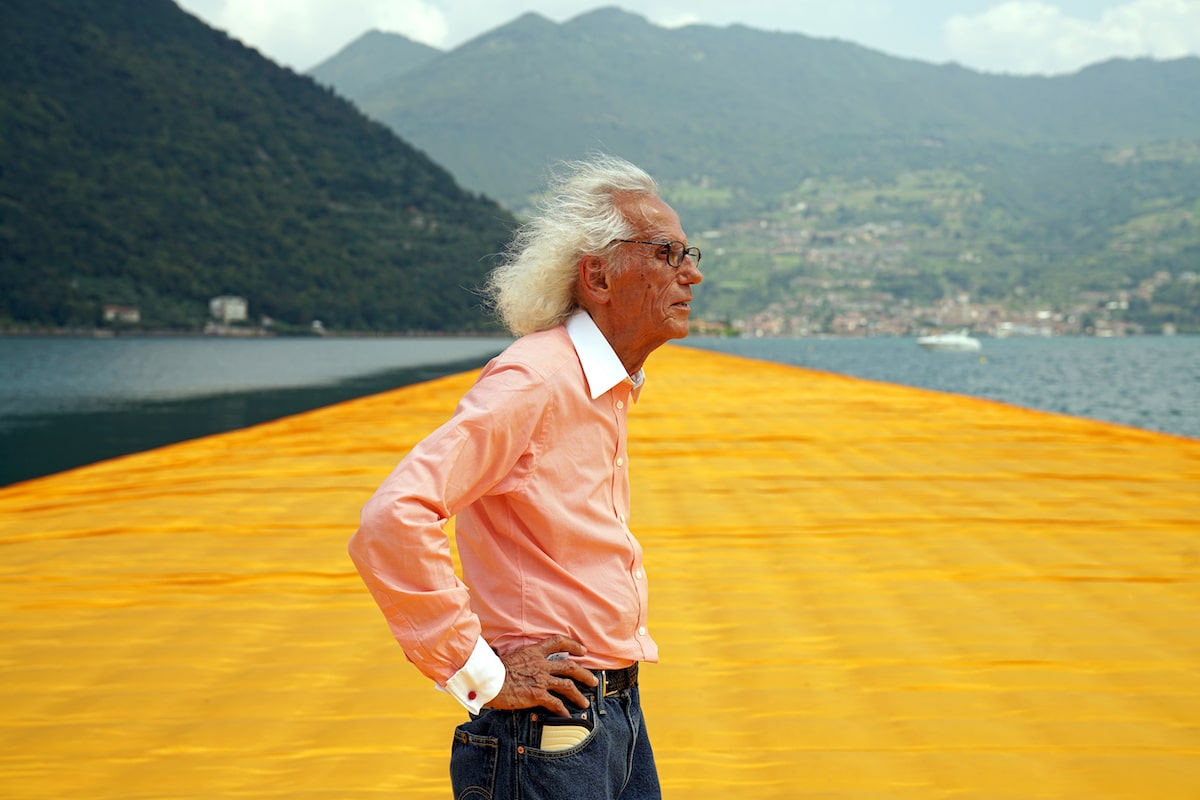 Christo at Floating Piers