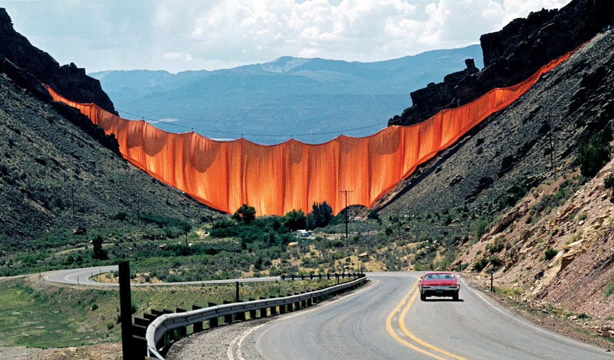 cortina valle por Christo y Jeanne-Claude