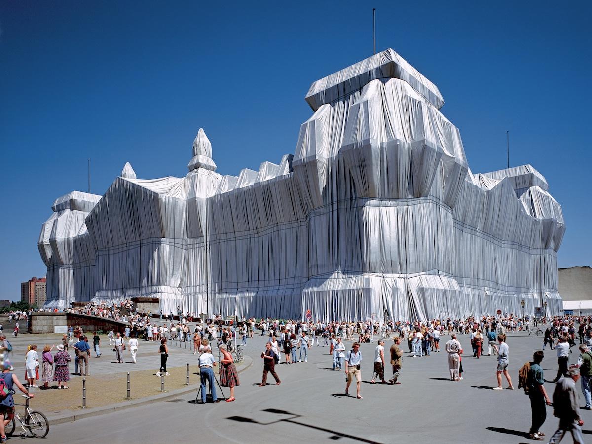 instalacion de Jeanne-Claude y Christo