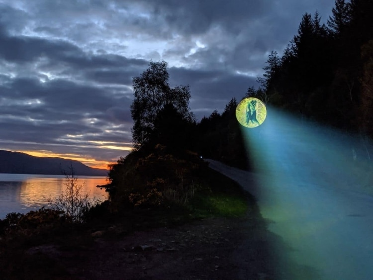 Hand Clapping Projection in Loch Ness