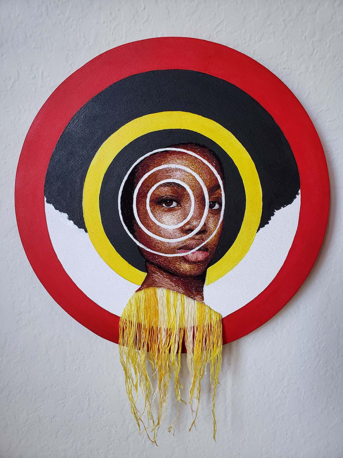 Mixed Media Portrait by Nneka Jones