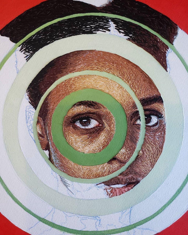 Mixed Media Portrait of a Black Girl by Nneka JonesMixed Media Portrait of a Black Girl by Nneka Jones