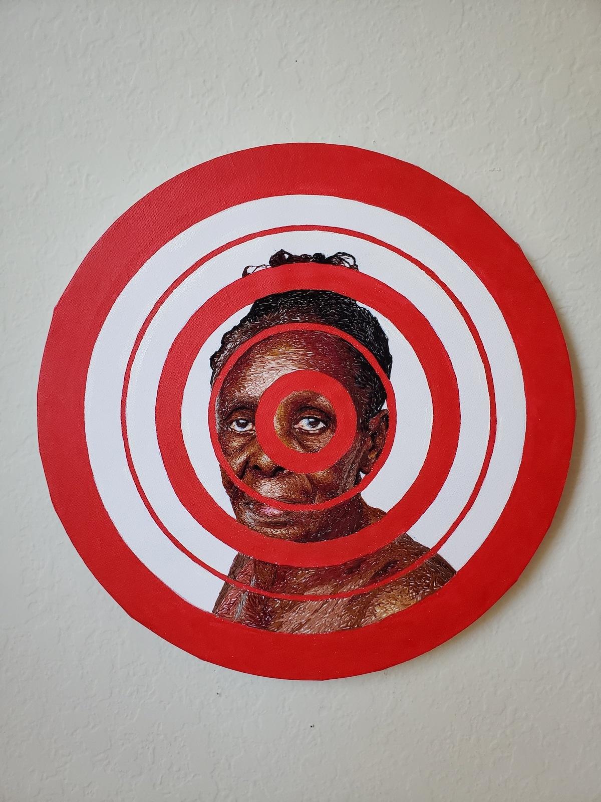 Mixed Media Portrait of a Black Women by Nneka Jones