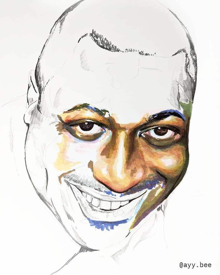 retrato incompleto por Adrian Brandon de la serie Stolen